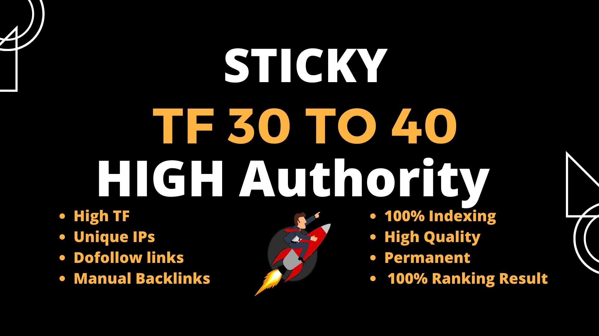 I will build 50 high authority tf cf dofollow SEO backlinks