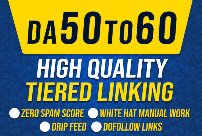 I will build 170 Seo dofollow high da backlinks with tier link building