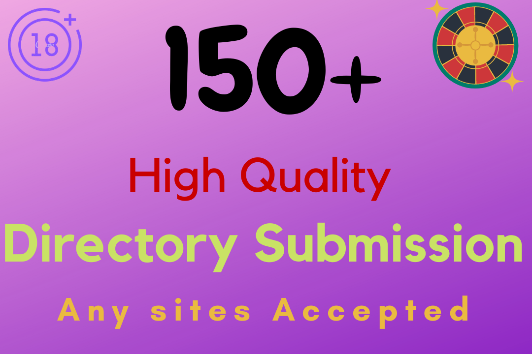 Build 150+ high quality do follow directory submission for SEO