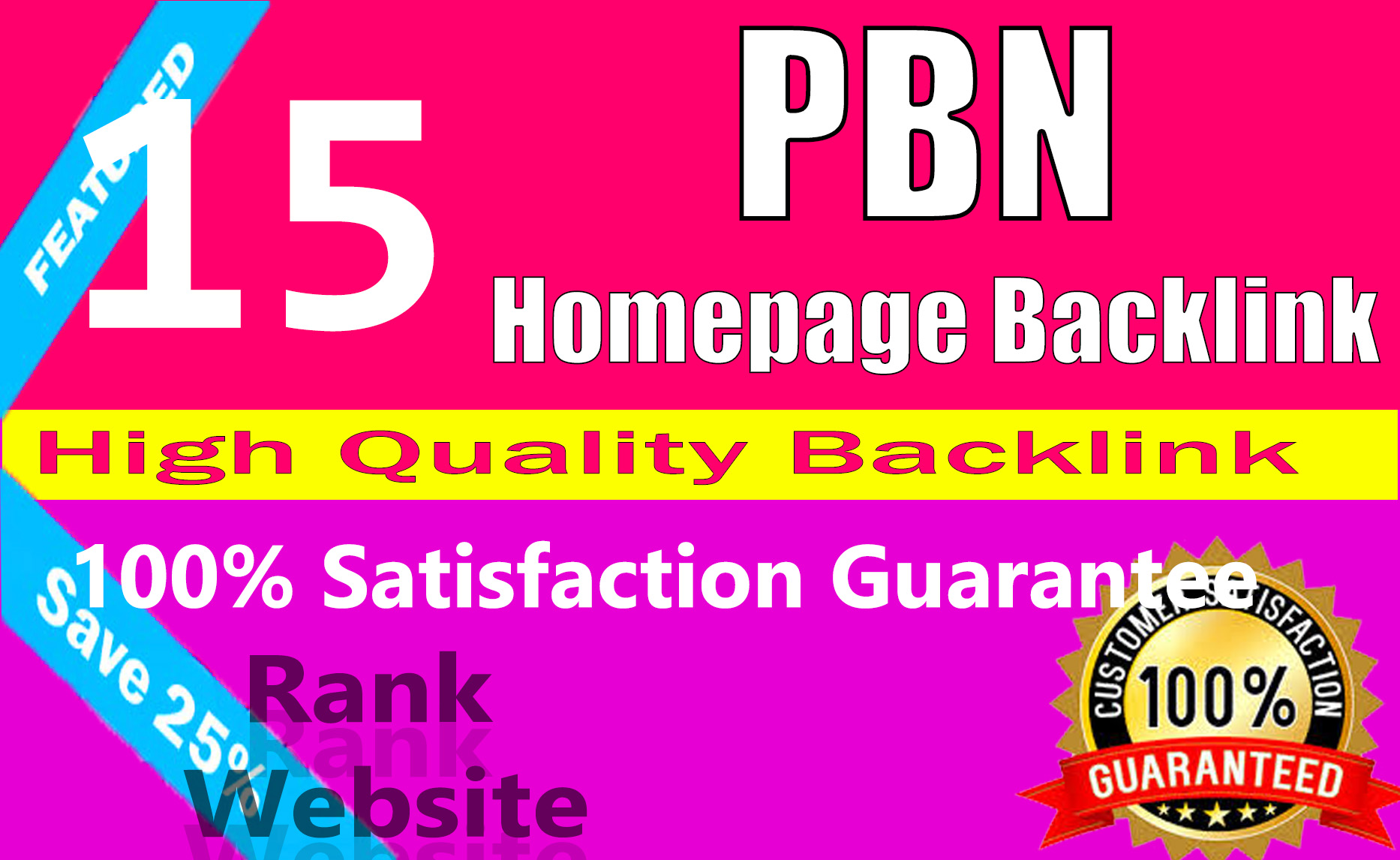 High Quality 15 Homepage Pbn Backlinks