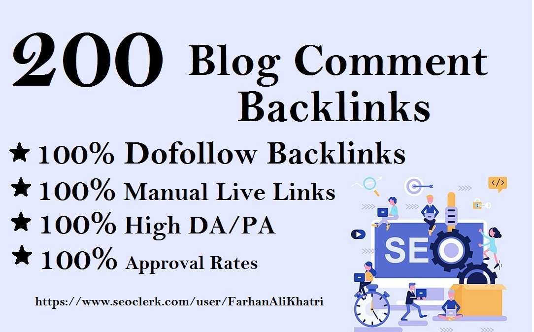 I Will Do 200 High Quality Blog Comments in Manual Links