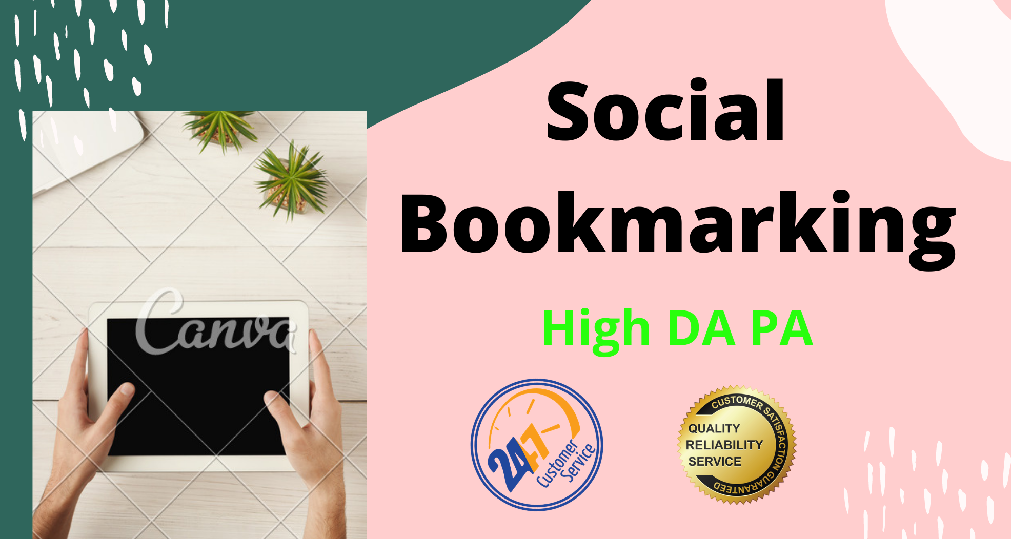 I Will Manually create 30 Social Bookmarking by using excessive PA social sites
