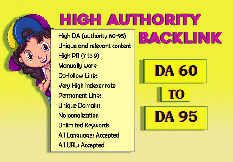 I will do 70 high Authority and best backlinks with quality articles