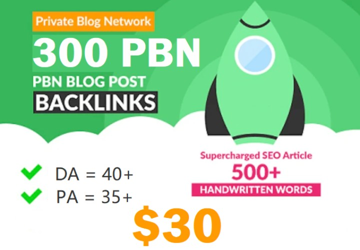 Get Powerfull 300 parmanent Backlink,  PBNs with High DA/PA on your Homepage with extraordinary sit
