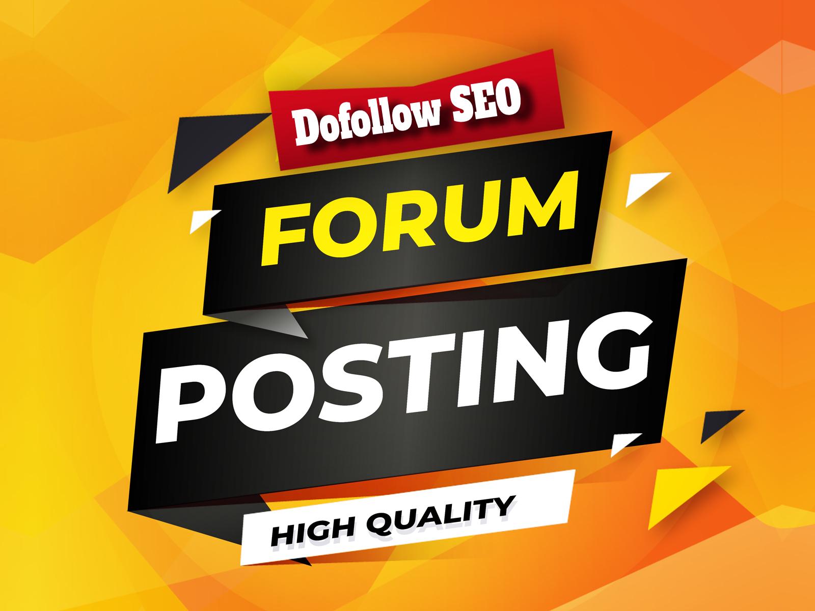 Create 100 high quality Forum Profile Backlinks