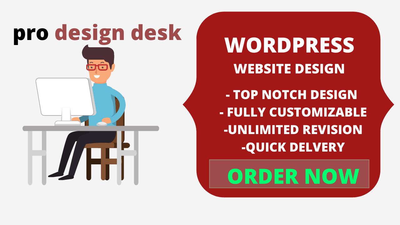 I will create any kind wordpress website