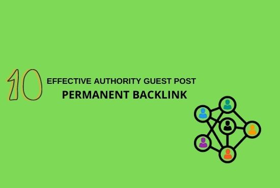 I Will Publish 10 Guest Post backlinks with High DA, PA