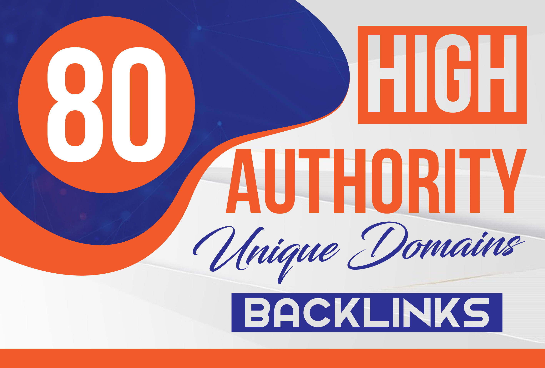 80 da high authority unique domains backlinks contextual