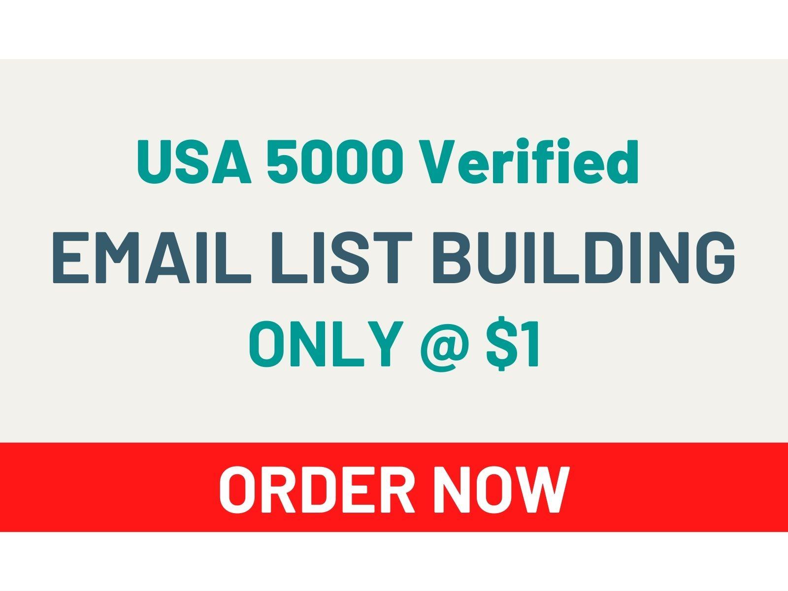I Will Give You USA 5000 Verified Email List