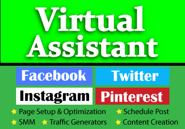 I will assist you as your dedicated virtual manager for a Social Media Page