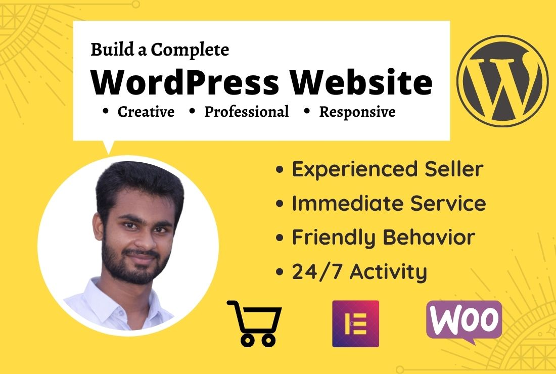 I will design and develop your responsive wordpress website