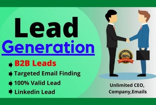 I will get 80 B2B Lead Generation for your business and email list