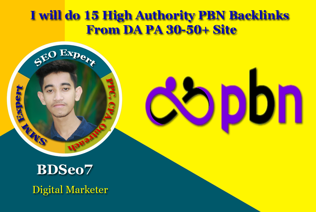 I will do 15 High Authority PBN Backlinks From DA PA 30-50+ Site