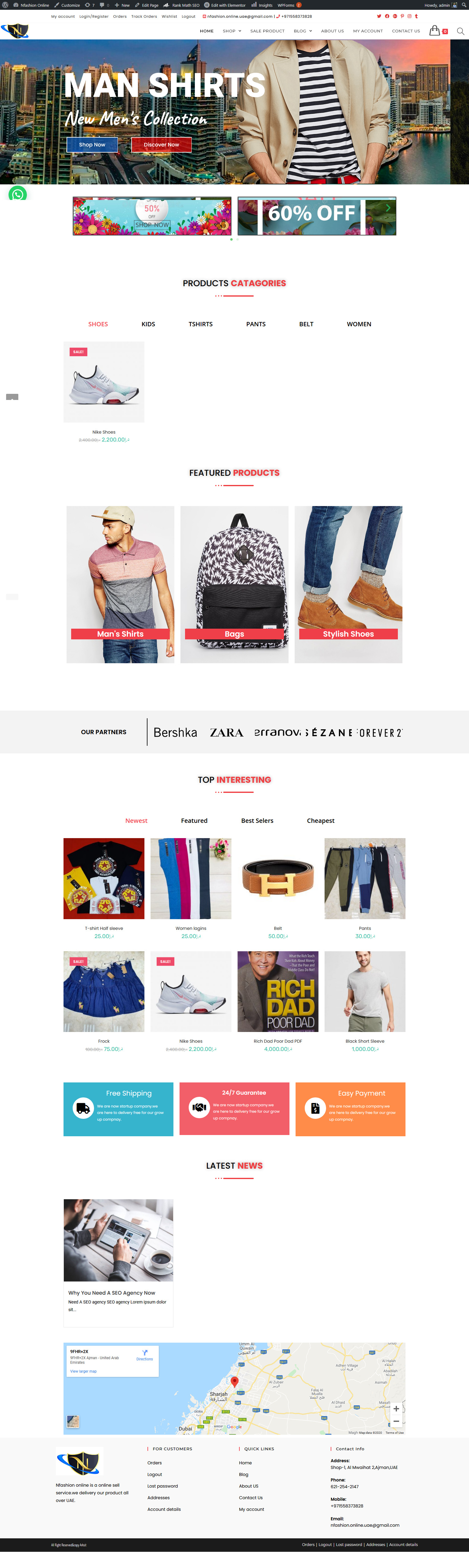 Build ecommerce website in wordpress woocommerce