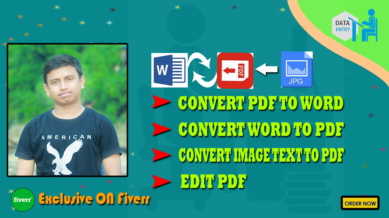 I will convert pdf to word or word to pdf format
