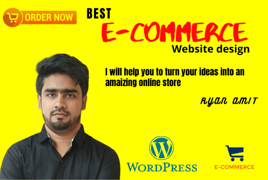 I will build ecommerce website online store with WordPress woo commerce