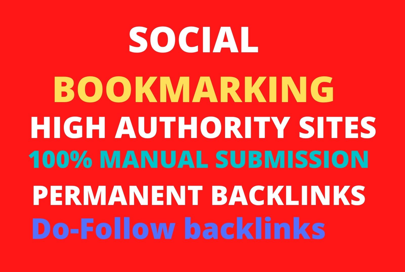 I will create high quality social bookmarking SEO backlinks