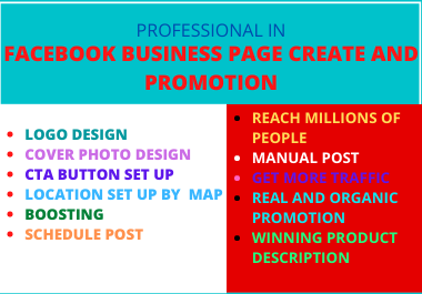 I Will Create an Amazing Facebook Business Page and Be your Manager