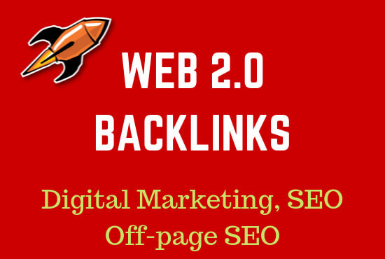 I will provide 10 build web 2.0 backlink manually