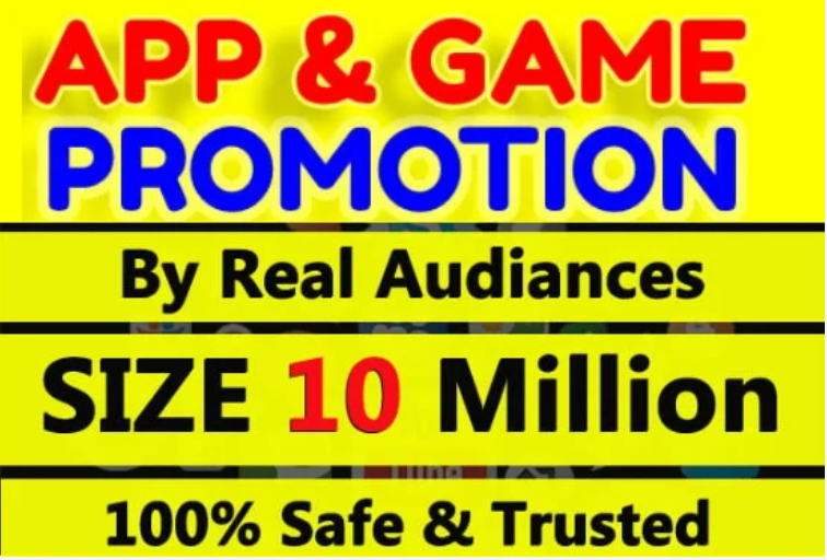 I will do app promotion,  app marketing for your android or ios apps and games to get installs