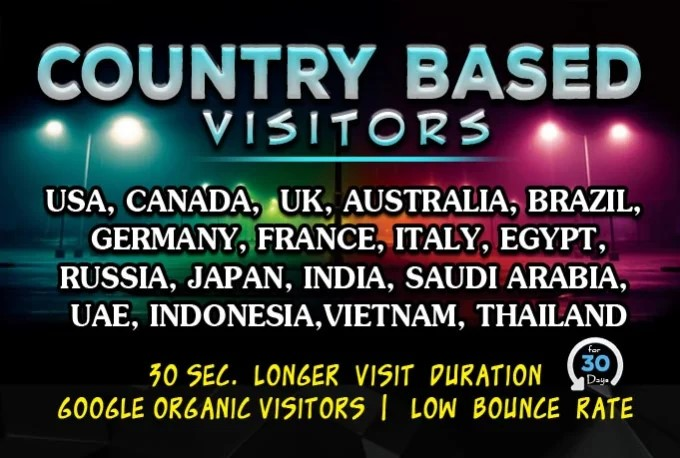 Bring targeted web traffic, visitors from usa, uk