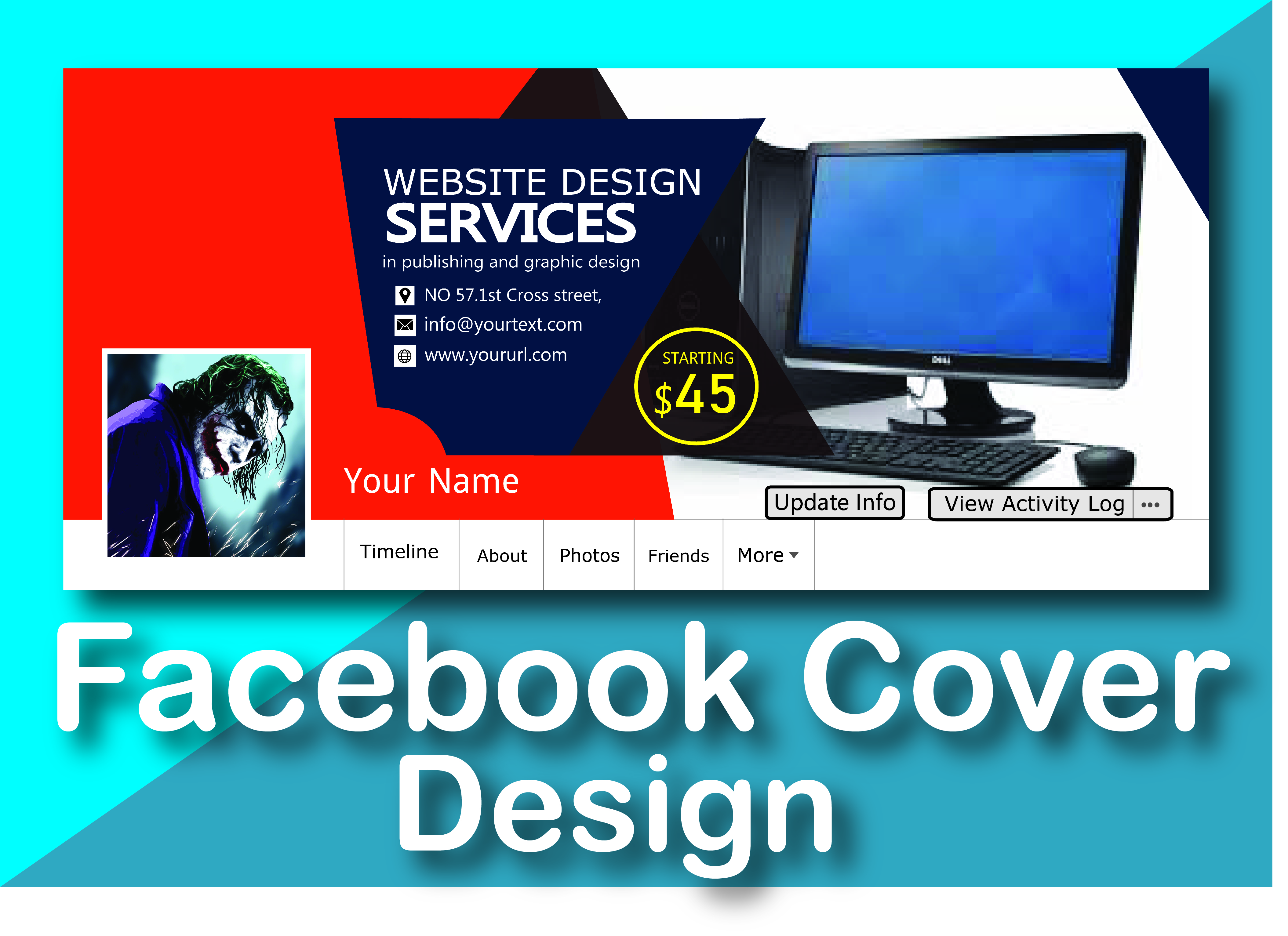 I will design facebook cover and social media banner for you