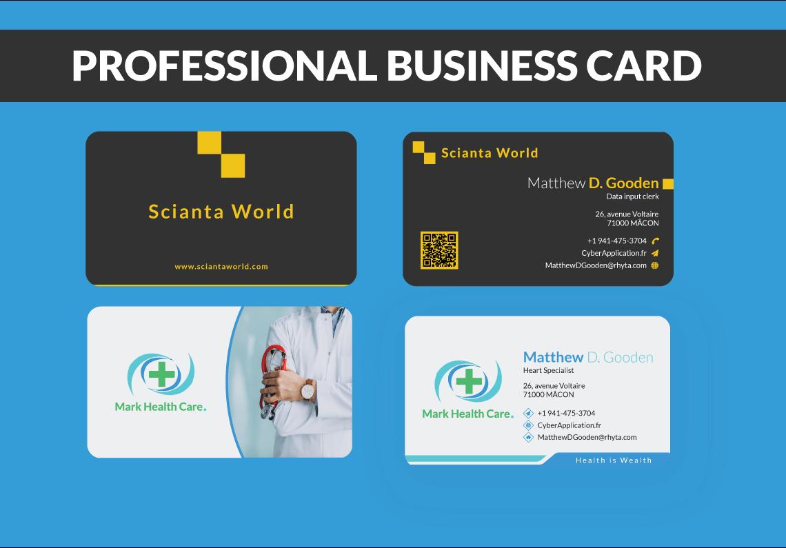 Elegant professional business card design