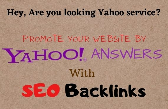 Promote Your site by 10 HQ Yahoo permanent backlinks