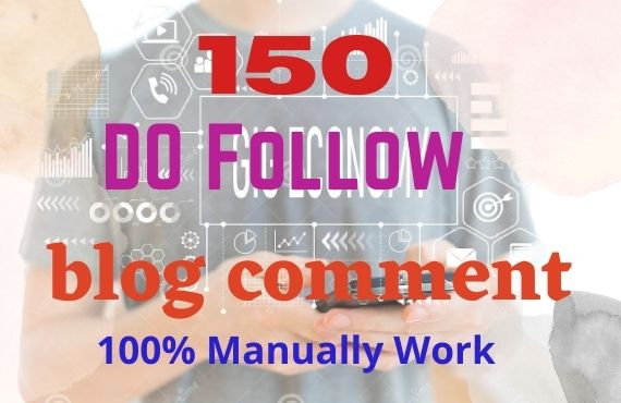 I will make 150 HQ backlinks using blog comments