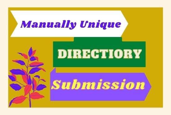 I will manually do 100 high quality directory submissions