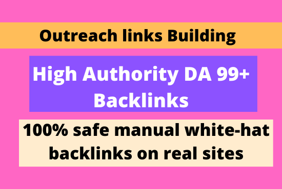 I will 100 build high quality dofollow seo manual link building service