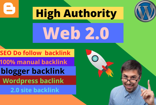 I will make 20 web 2 0 authority manual backlinks