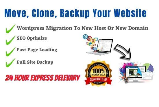I Will Migrate Wordpress Website,  Backup Website and Clone Website