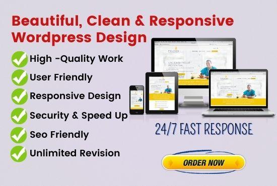 I will create wordpress website or customization