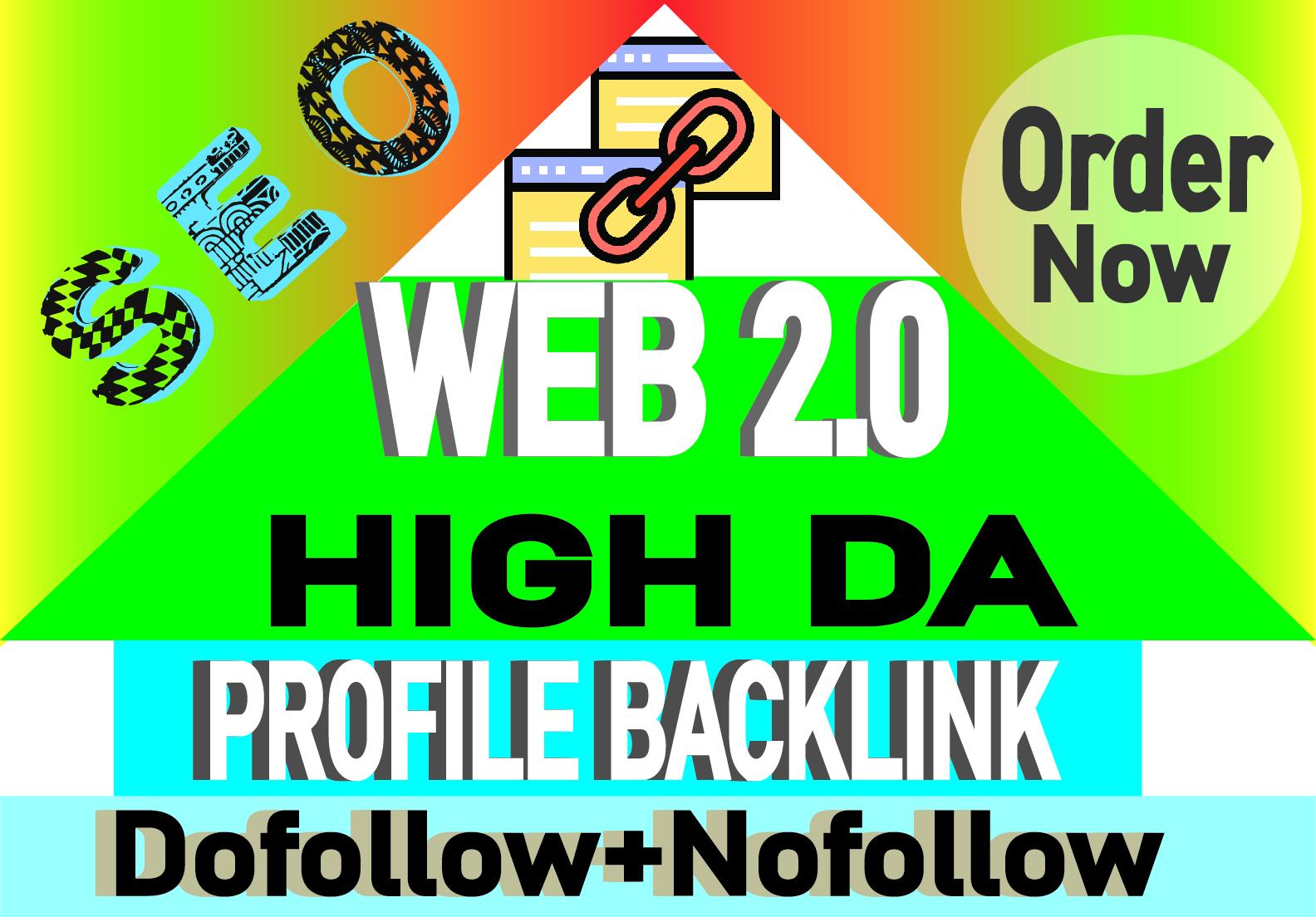 I will create web 2.0 profile backlinks manually