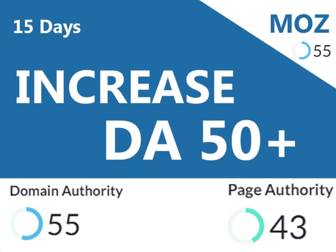 Increase Domain Authority MOZ DA 50+ Manually Backlinks for all type websites