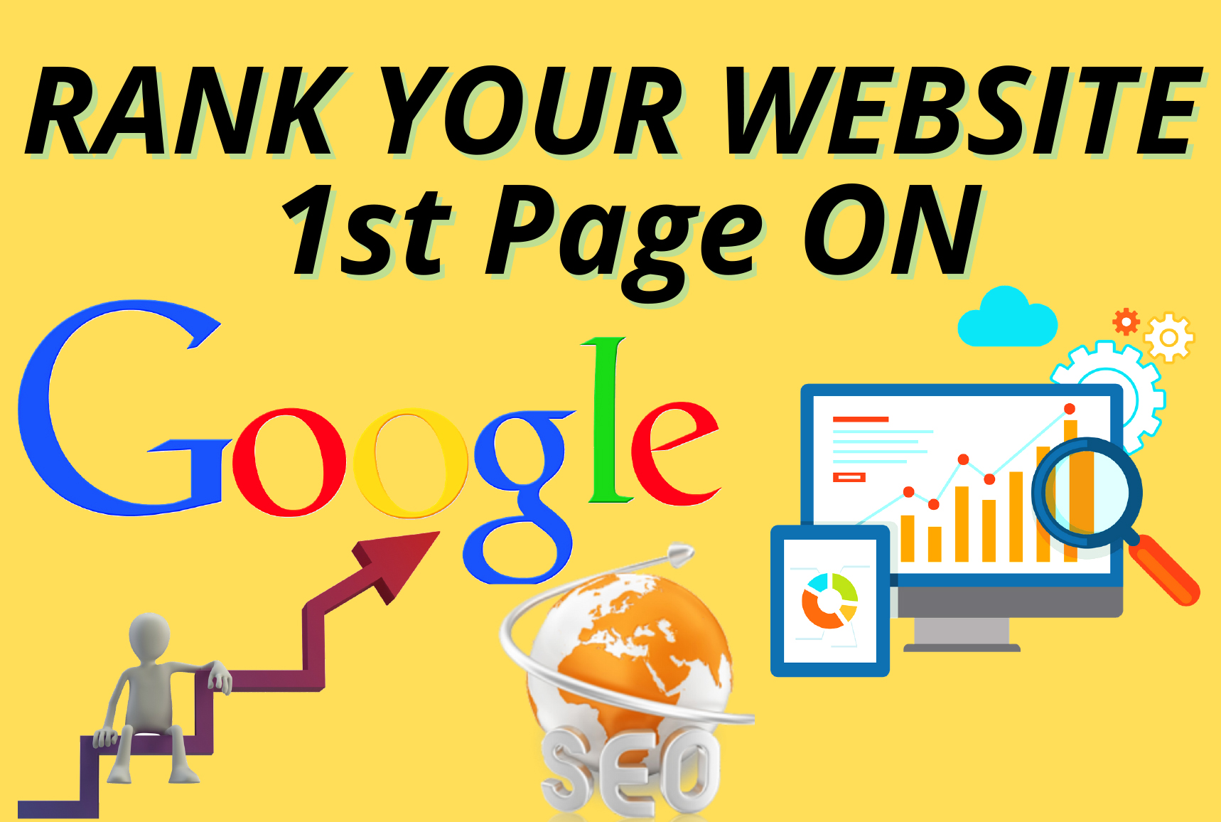 I Will Offer Your Website Guaranteed 1st Page Rank on Google by Exclusive Backlinks