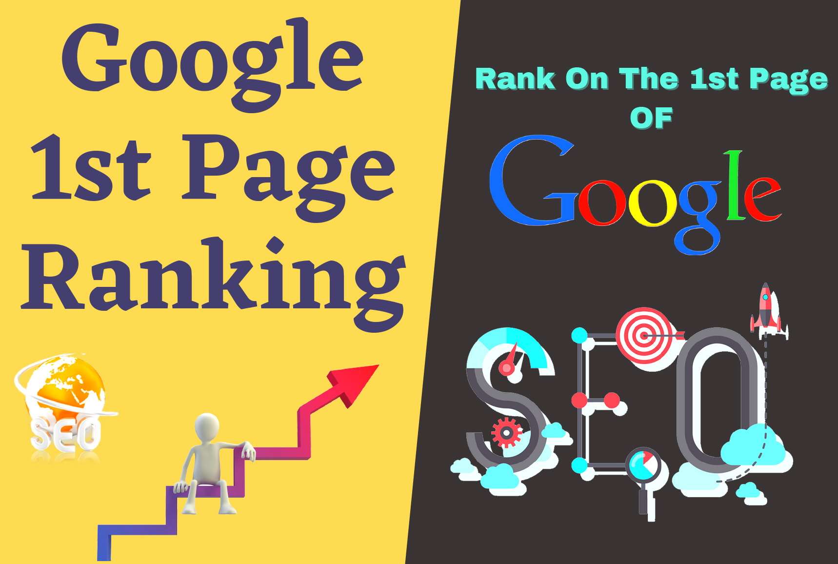 I will Do Guaranteed rank your website on google 1st page