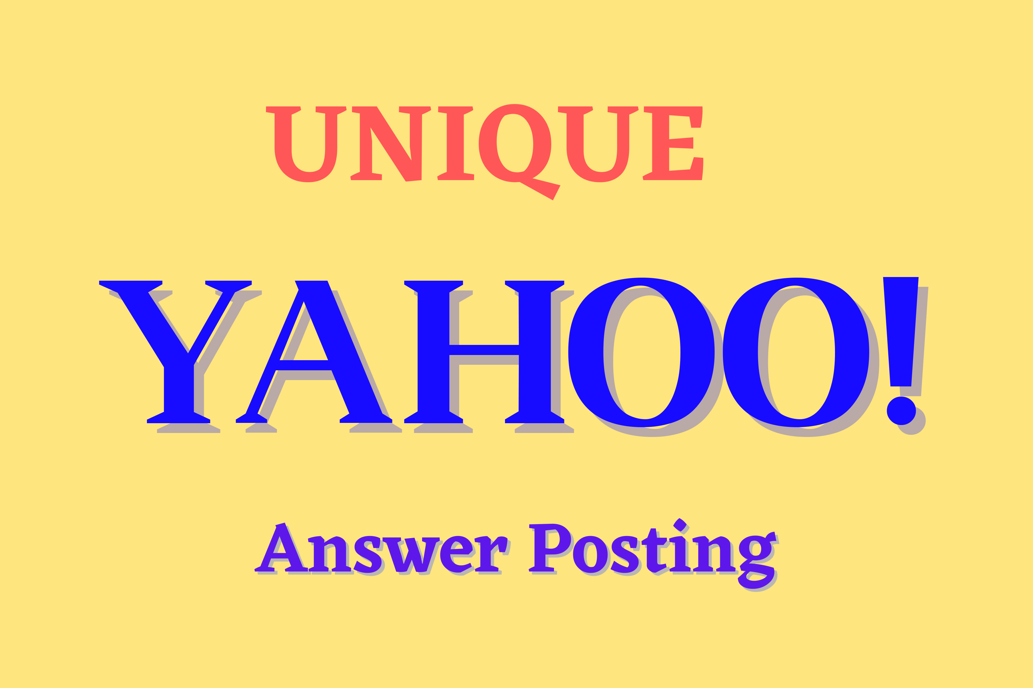 Promote Your website 10 High Quality Yahoo answers with your KEYWORDS & URL