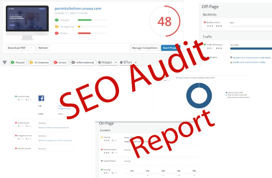 I will provide a complete website SEO audit report and action plan