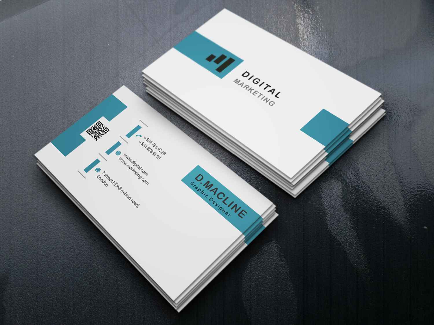 I will design professional and minimalist creative business card