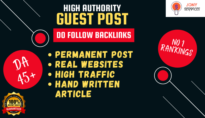 Write and Publish Guest Post with backlink on high da 45 plus website