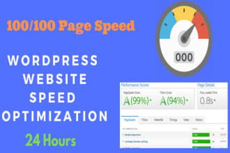 I will do wordpress speed optimization and improve page speed score