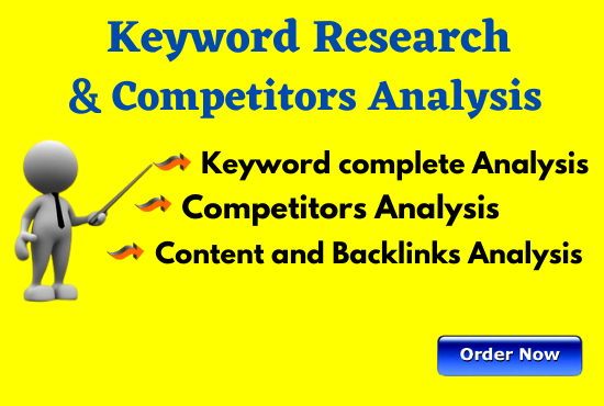Provide Profitable 100 keyword research and 1 competitor analysis
