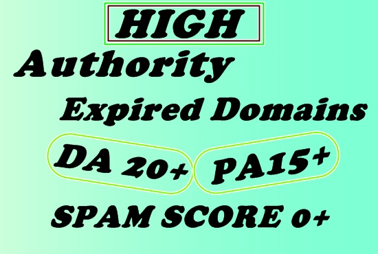 I will provide you with 15 quality expired domains