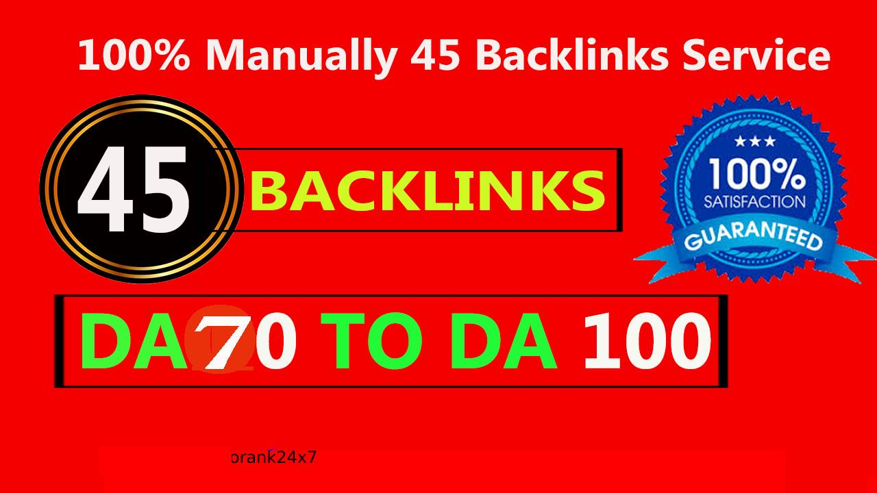 Manually Do 45 PR9 Backlinks from High DA90+ - Skyrocket your Google RANKINGS
