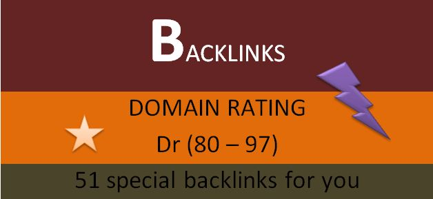 i will do 51 dr dofollow backlinks for your website to rank 1