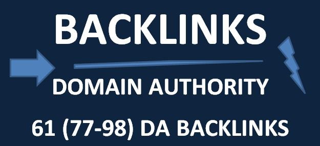 i will do 61 high da backlinks for your website / other