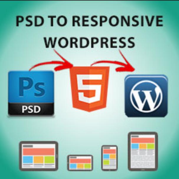 I Will convert Psd to Wordpress responsive Website