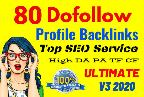 I will create 80 high authority profile backlinks